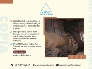 Bentonite Granules, Suppliers and Double Roasted   Copia Clay Pvt. Ltd.