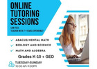 Online Tutoring for K-10 in STEM subjects & abacus (Small class size and Low fees!)